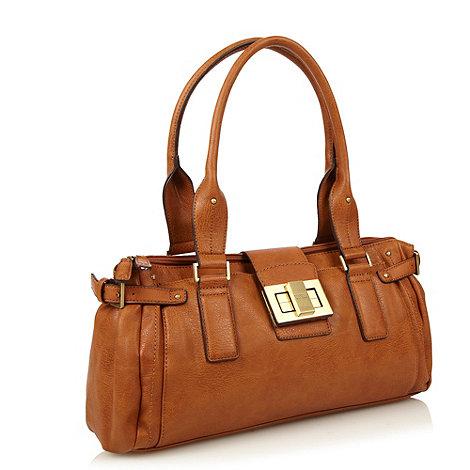 Fiorelli - Tan branded twist lock shoulder bag