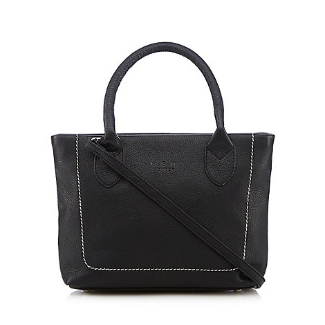 O.S.P OSPREY - Black luxury grained leather grab bag