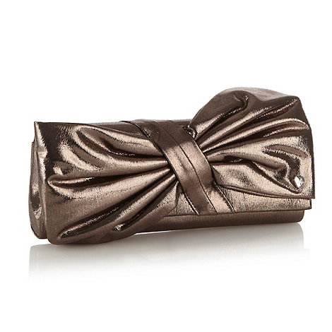 Lipsy - Metallic bow clutch bag