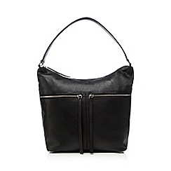 The Collection - Black zip detail shoulder bag