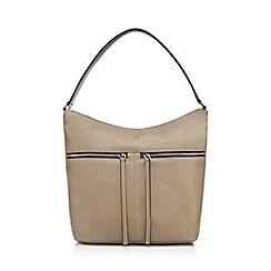 The Collection - Grey zip detail shoulder bag