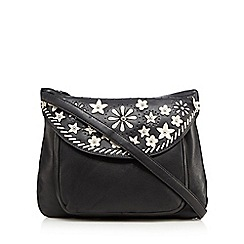 The Collection - Black floral appliqueé   cross body bag