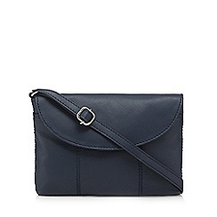 The Collection - Navy small flap over cross body bag