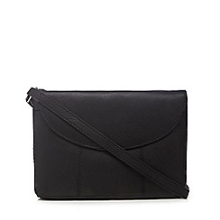 The Collection - Black small flap over cross body bag
