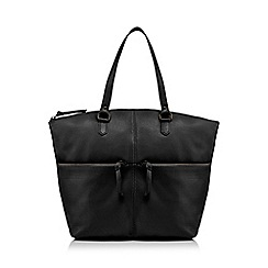The Eighth - Black double zip tote bag