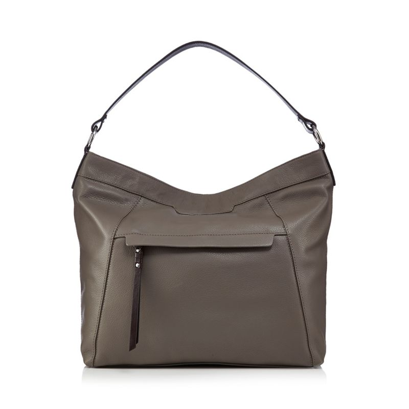 The Eighth Grey leather hobo bag