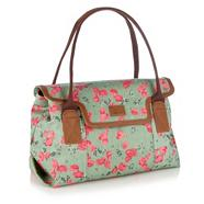 Pale Green Tulip Flower Shoulder Bag