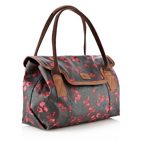 Nica - Dark grey tulip flower shoulder bag