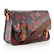Dark Grey Tulip Canvas Satchel Bag