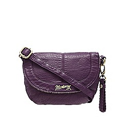 Mantaray - Dark purple washed cross body