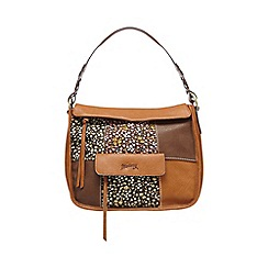 Mantaray - Tan floral print insert shoulder bag