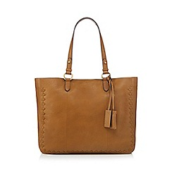 Mantaray - Brown stitch detail tote bag
