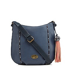Mantaray - Navy tassel shoulder bag