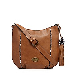 Mantaray - Tan tassel shoulder bag