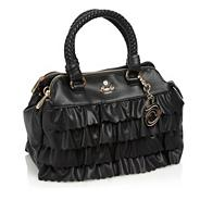 Black Tiered Ruffle Three Section Grab Bag