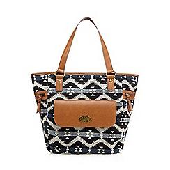 Mantaray - Tan aztec textured shoulder bag