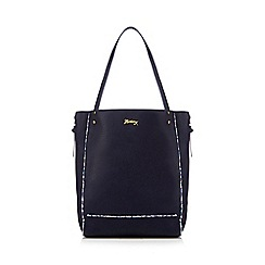 Mantaray - Navy ditsy trim shopper bag