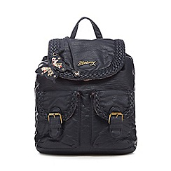Mantaray - Navy woven backpack