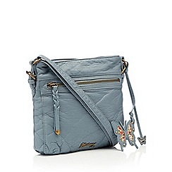 Mantaray - Light blue washed cross body bag