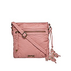 Mantaray - Pink woven cross body bag