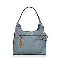 Mantaray - Mid blue woven shoulder bag