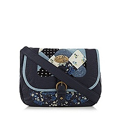 Mantaray - Navy patchwork cross body bag