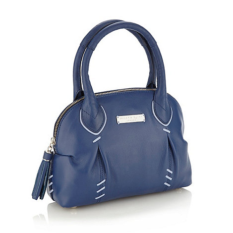Bailey & Quinn - Dark blue stab stitched mini grab bag