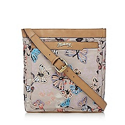 Mantaray - Beige butterfly embellished cross body bag