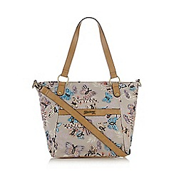 Mantaray - Multi-colour butterfly print embellished tote