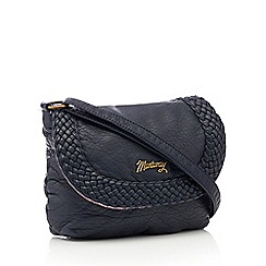 Mantaray - Navy woven cross body bag