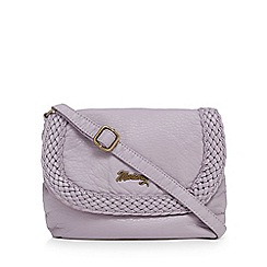 Mantaray - Lilac woven cross body bag