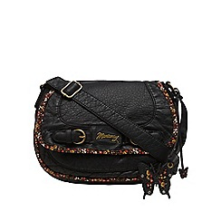 Mantaray - Black ditsy butterfly saddle bag