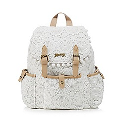 Mantaray - White crochet backpack