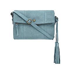 Mantaray - Light blue suede cross body bag
