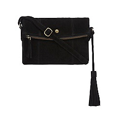 Mantaray - Black suede cross body bag