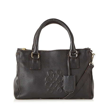 Bailey & Quinn - Black leather embossed shoulder bag