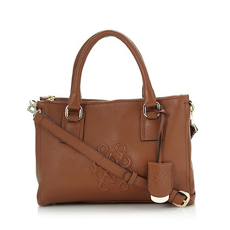 Bailey & Quinn - Tan leather embossed shoulder bag