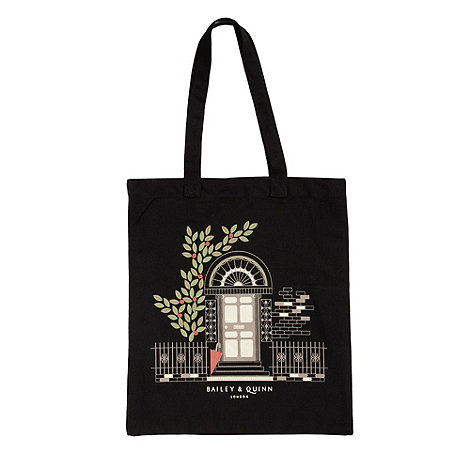 Bailey & Quinn - Black +new picture+ canvas shopper bag