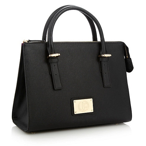 Jack French - Black buckled handled grab bag