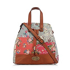 Mantaray - Multi-coloured patchwork print duffle bag
