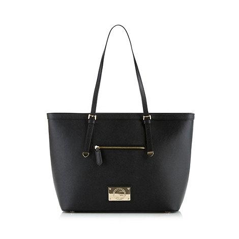 Jack French - Black +belsize+ crosshatched leather shopper bag