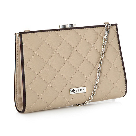 ILEX - Off white frame clutch bag