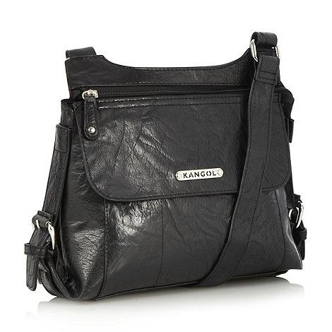 Kangol - Black grained cross body bag