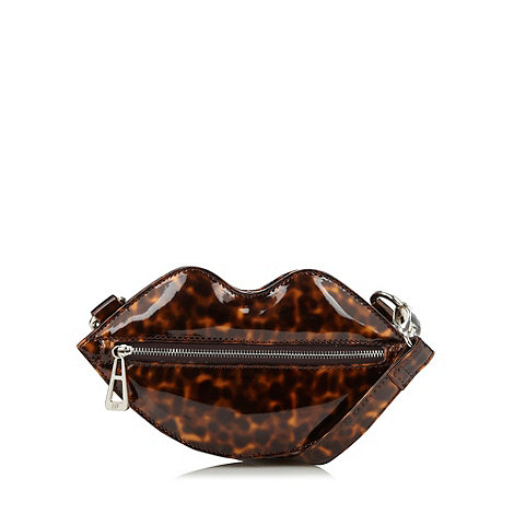 H! by Henry Holland - Designer brown mini lips cross body bag