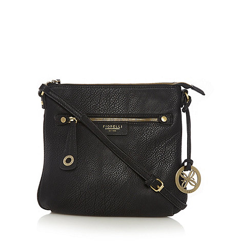 Fiorelli - Black zip front cross body bag