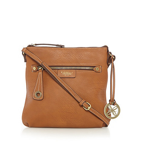 Fiorelli - Tan zip front cross body bag