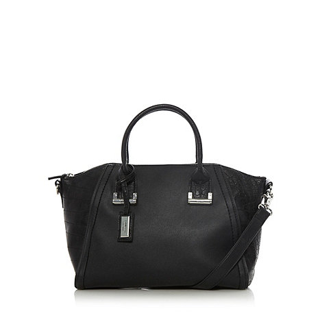 Fiorelli - Black mock croc panelled grab bag