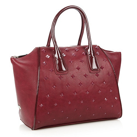 Faith - Wine studded wing tote bag