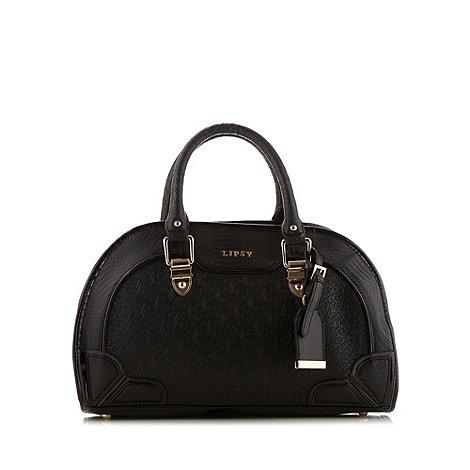 Lipsy - Black logo embossed bowler bag