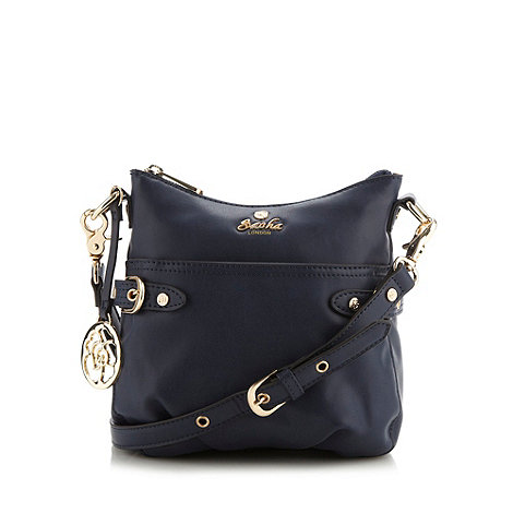 Sacha - Navy front pocket cross body bag